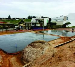 Construção da  área de lazer  do Condomínio Residencial parque  Esplanada