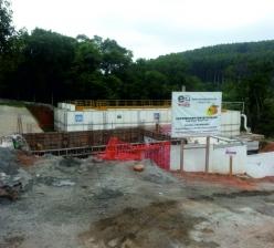 Conclusão da construção de um reservatório semi-enterrado na estação de tratamento de água de Votorantim