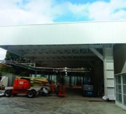 Construção de Cobertura Metálica para a área de recebimento da Logística – SYMRISE - Sorocaba-SP